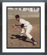 Chicago Cubs Ernie Banks Fielding Posed Framed Photo