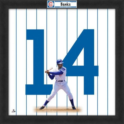 Chicago Cubs Ernie Banks Uniframe Framed Jersey Photo