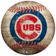 Chicago Cubs Baseball Shaped Sign