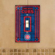 Chicago Cubs Glass Single Light Switch Plate Cover