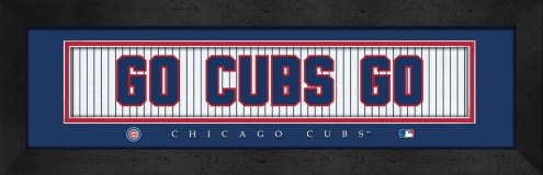"""Chicago Cubs """"Go Cubs Go"""" Stitched Jersey Framed Print"""