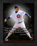 Chicago Cubs Greg Maddux Framed Pro Quote