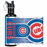 Chicago Cubs Hi-Def Black Stainless Steel Water Bottle