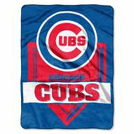 Chicago Cubs Home Plate Raschel Blanket