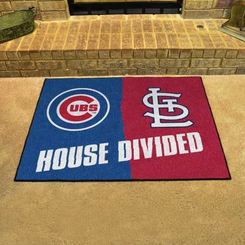 Chicago Cubs/St. Louis Cardinals House Divided Mat