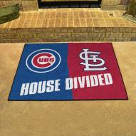 Chicago Cubs/St. Louis Cardinals House Divided Mat