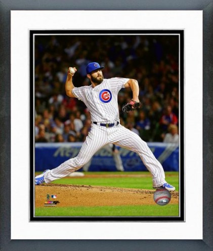 Chicago Cubs Jake Arrieta Action Framed Photo
