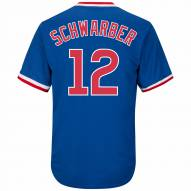 Chicago Cubs Kyle Schwarber Cooperstown Royal Replica Baseball Jersey