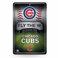 Chicago Cubs Large Embossed Metal Wall Sign