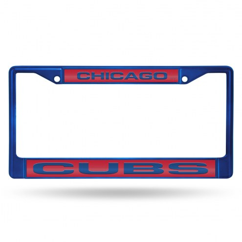 Chicago Cubs Laser Colored Chrome License Plate Frame
