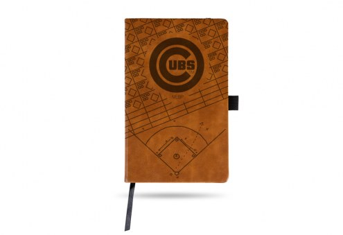 Chicago Cubs Laser Engraved Brown Notepad