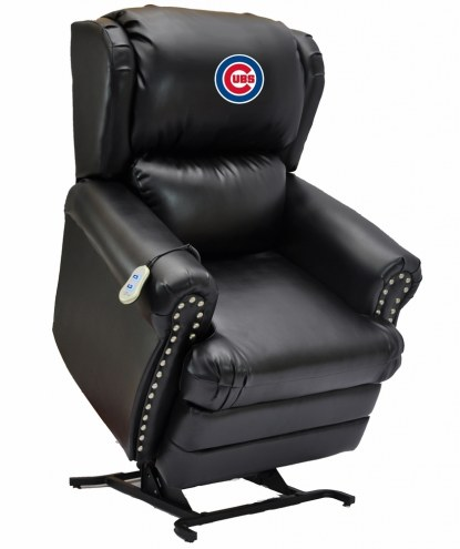 Chicago Cubs Leather Coach Lift Recliner