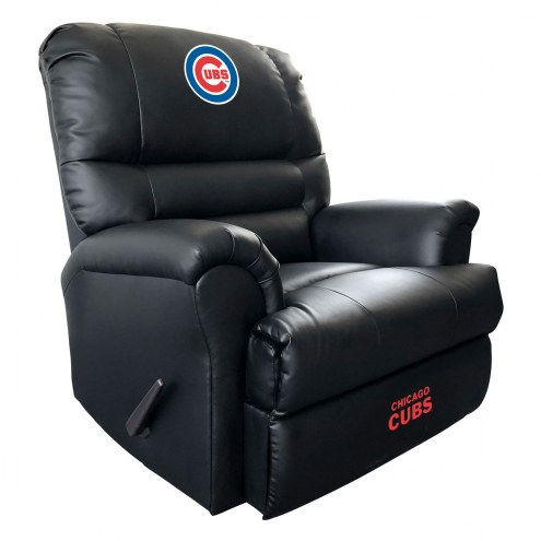 Chicago Cubs Leather Sports Recliner