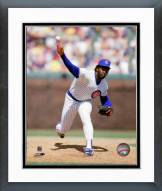 Chicago Cubs Lee Smith 1980 Action Framed Photo