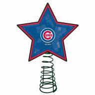 Chicago Cubs Light Up Art Glass Mosaic Tree Topper