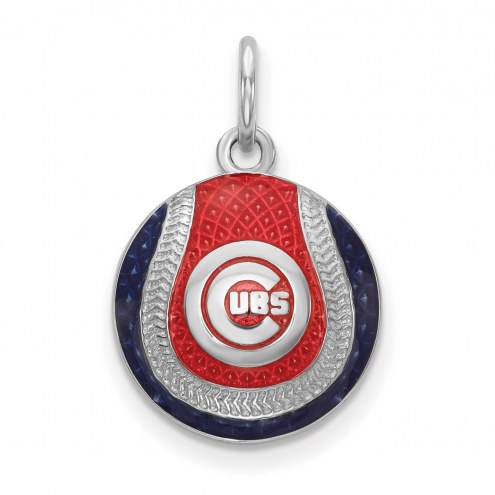 Chicago Cubs Sterling Silver Baseball Pendant