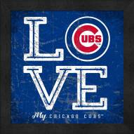 Chicago Cubs Love My Team Color Wall Decor