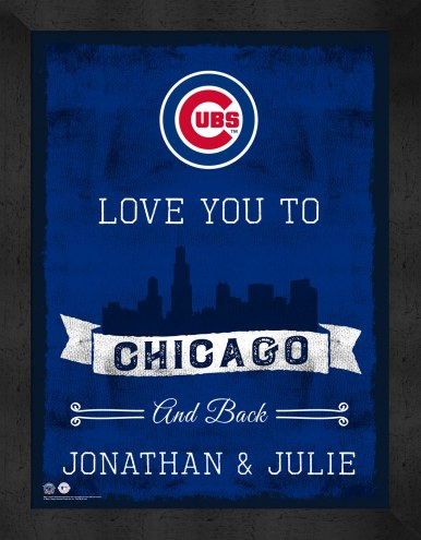 Chicago Cubs Love You to and Back Framed Print
