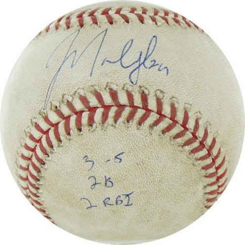 "Chicago Cubs Marlon Byrd Signed Astros at Cubs 4-18-2010 Game Used Baseball w/ ""3-5  2B  2 RBI"""