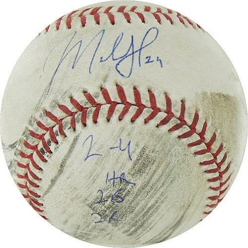 "Chicago Cubs Marlon Byrd Signed Pirates at Cubs 5-14-2010 Game Used Baseball w/ ""2-4  HR  2B  2R"""