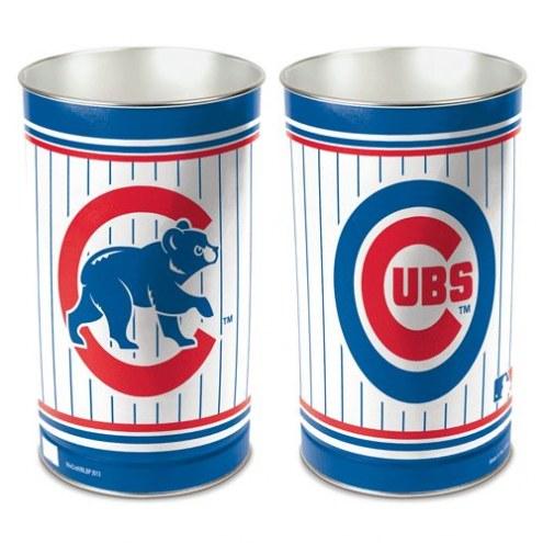 Chicago Cubs Metal Wastebasket