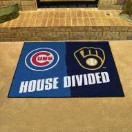 Chicago Cubs/Milwaukee Brewers House Divided Mat