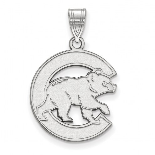 Chicago Cubs 14k White Gold Large Pendant