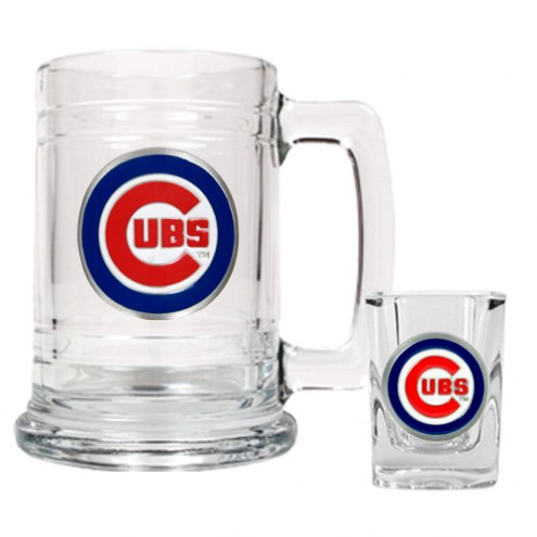 Chicago Cubs MLB Boilermaker Set - Shot Glass & Tankard Mug