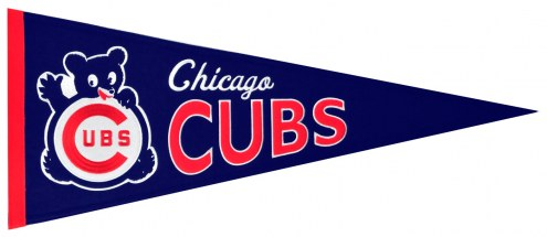 Chicago Cubs MLB Cooperstown Custom Pennant