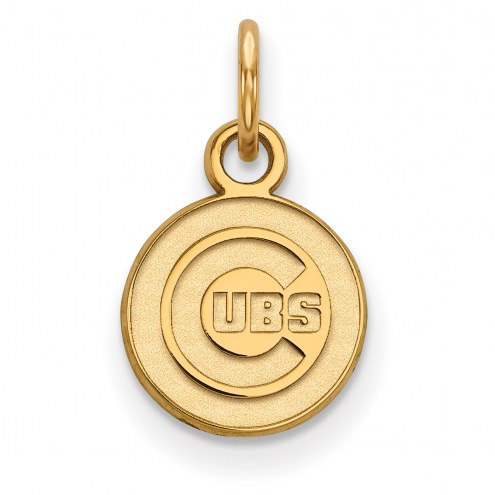 Chicago Cubs MLB Sterling Silver Gold Plated Extra Small Pendant