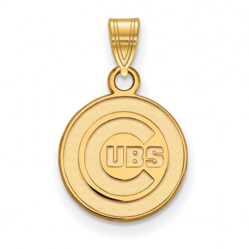 Chicago Cubs MLB Sterling Silver Gold Plated Small Pendant