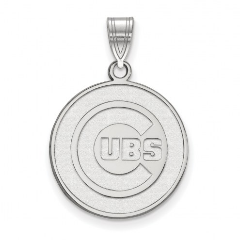 Chicago Cubs Sterling Silver Large Pendant