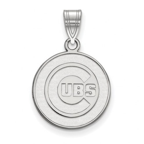 Chicago Cubs Sterling Silver Medium Pendant