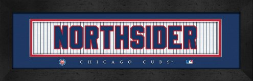 "Chicago Cubs ""Northsider"" Stitched Jersey Framed Print"
