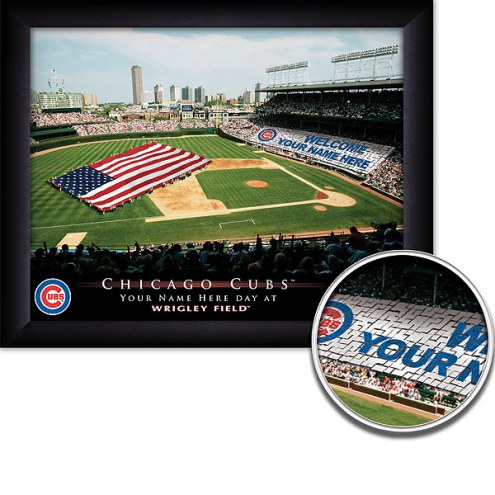 Chicago Cubs Personalized Framed Stadium Print