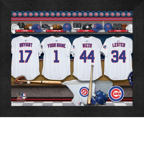 Chicago Cubs  Personalized Locker Room 11 x 14 Framed Photograph