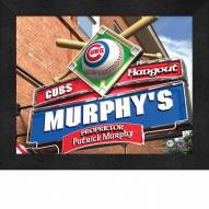 Chicago Cubs 11 x 14 Personalized Framed Sports Pub Print