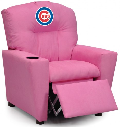 Chicago Cubs Pink Kid's Recliner