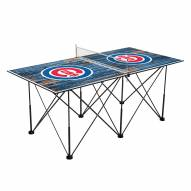 Chicago Cubs Pop Up 6' Ping Pong Table