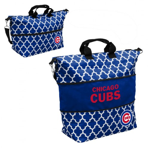 Chicago Cubs Quatrefoil Expandable Tote