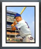 Chicago Cubs Ron Santo With Bat Posed Framed Photo
