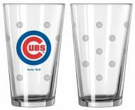 Chicago Cubs Satin Etch Pint Glass - Set of 2