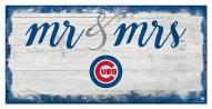 Chicago Cubs Script Mr. & Mrs. Sign