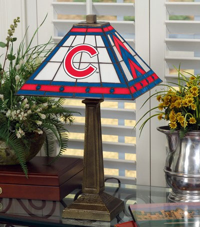 Chicago Cubs Stained Glass Mission Table Lamp