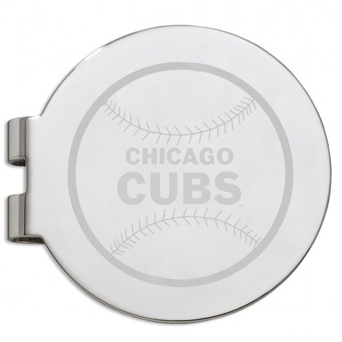 Chicago Cubs Stainless Steel Engraved Money Clip