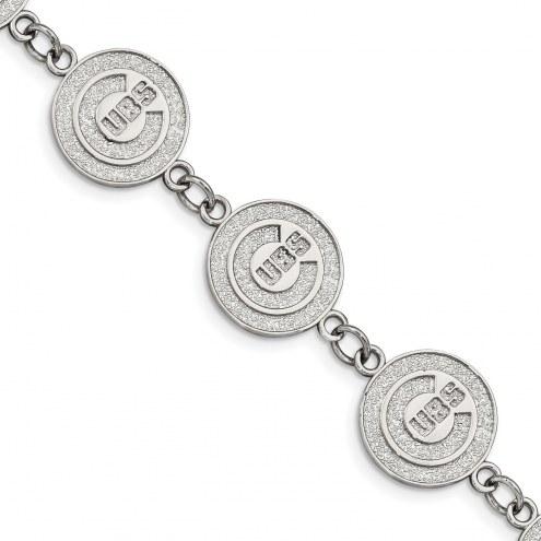 Chicago Cubs Stainless Steel Logo Bracelet
