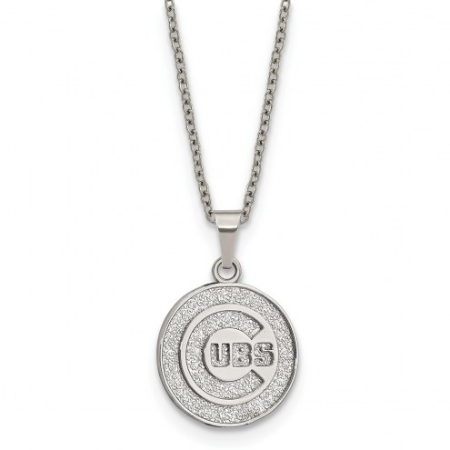 Chicago Cubs Stainless Steel Pendant Necklace