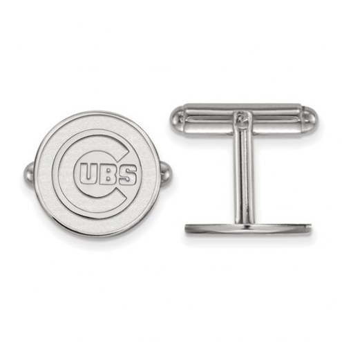Chicago Cubs Sterling Silver Cuff Links