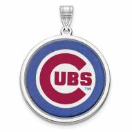 Chicago Cubs Sterling Silver Disc Pendant