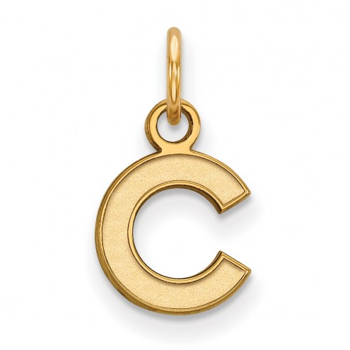 Chicago Cubs Sterling Silver Gold Plated Extra Small Pendant